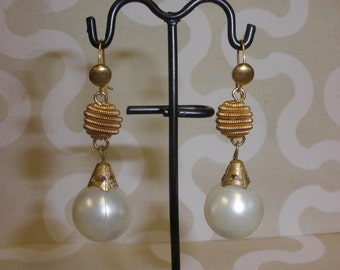 Upcycled/Recycled Victorian Inspired Antique Vintage Pearl Earrings