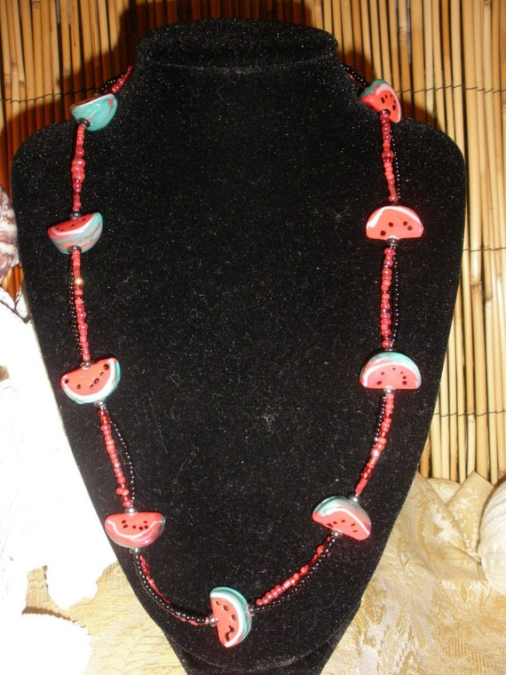 Watermelon Crawl Novelty Necklace