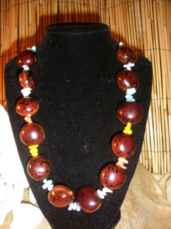 Sea Bean Rainbow Necklace