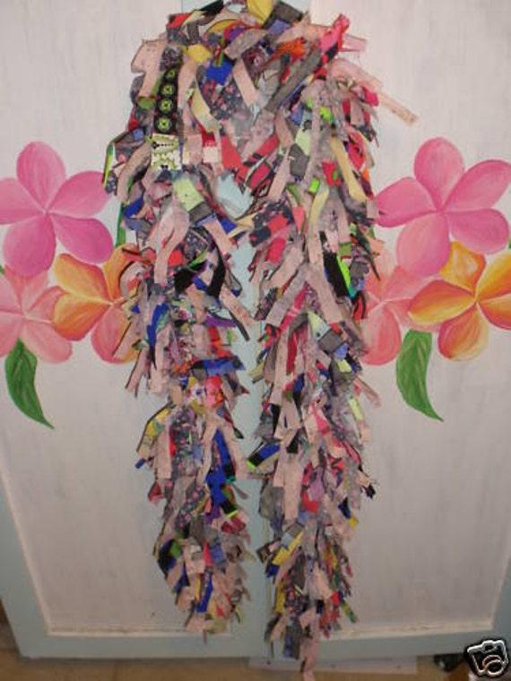 Handmade Recycled Upcycled Fabric Boa Scarf  no.14