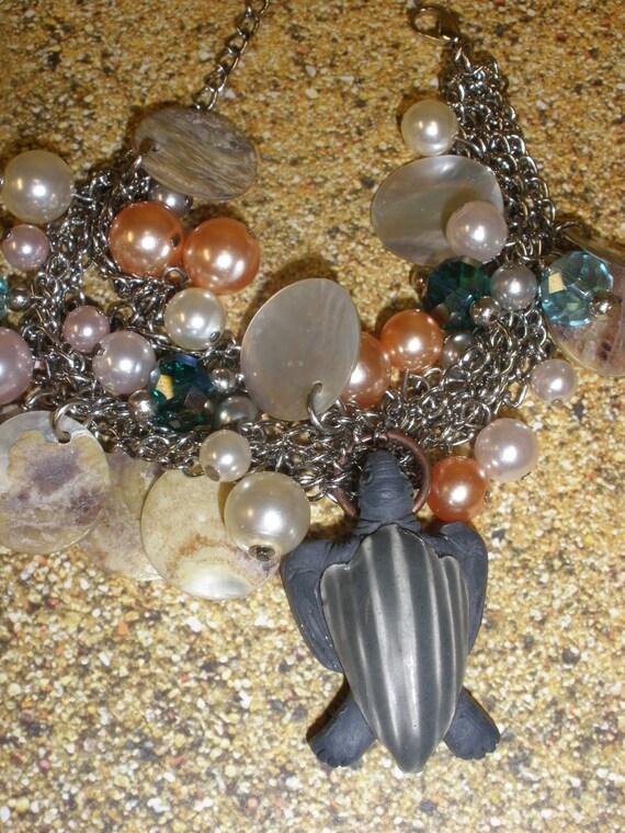 Leatherback Seaturtle  Charm Bracelet