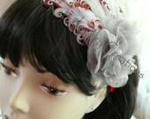 Flapper Style Headbands-Curly Goose Featherpad Headband for Girls - Elegant Headband for women - Photo Prop