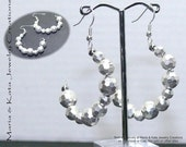 Half Moon earrings- made with beads