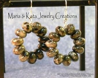 10 mm Stone Rondelle Small Loop earrings