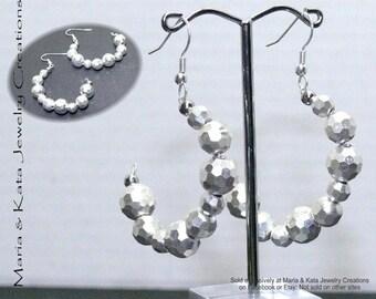 Half Moon earrings- made with beads