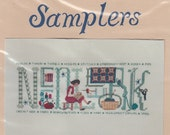 New Oberlin Samplers Needlework Counted Cross Stitch Chart 1991