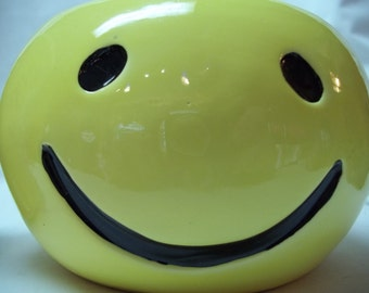Vintage Smiley Face Planter Container