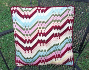 Vintage Bargello Pillow with issues