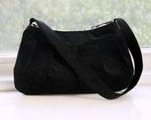 Black Corduroy Purse - Buttercup Bag