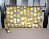 Diaper Clutch with Changing Pad - Amy Butler Martini & Damask