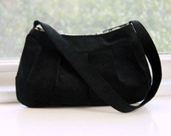 Black Corduroy Purse - Buttercup Bag