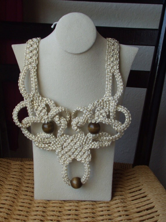 Macrame Necklace Sand Castle