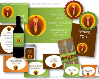 Give Thanks - Modern Thanksgiving Party Collection Printable