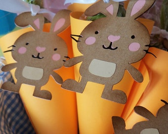 Bunny & Carrot Easter Party Decor | Easter Banner | Bunny Cupcake Topper | Photo Prop | Spring Party | Easter Baby Shower | Easter Party