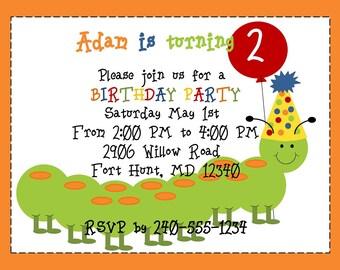 Printable Caterpillar Party Invitation
