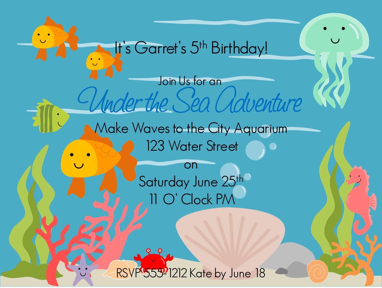 Under The Sea Invitation Template with good invitation ideas