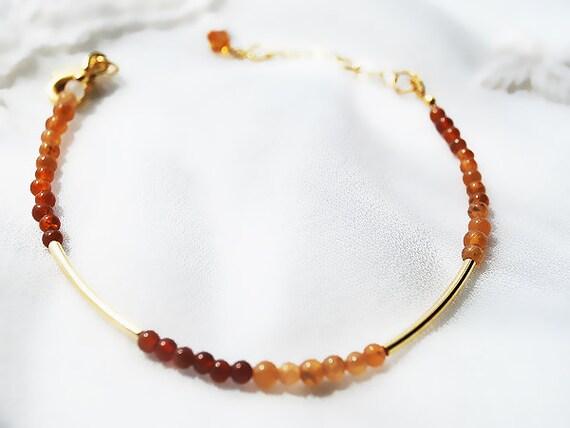 Hessonite Garnet 14kt Gold Filled Bracelet