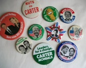 Lot of 10 Presidential Campaign Pins