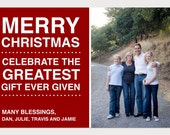 Custom Christian Christmas Photo Card