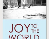 Custom Holiday Photo Card - Joy to the World