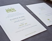 Harlow Modern Tree Wedding Invitation