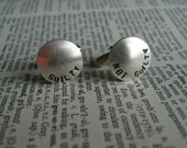 Brushed Nickel Cuff Links -- Guilty, Not Guilty
