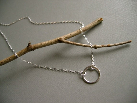Under the Same Moon -- Sterling Silver Circle Necklace