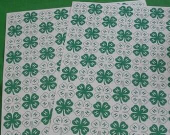 4-H 12x12 clover paper