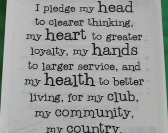 4-H Pledge sticker