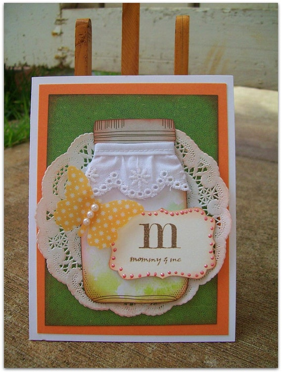 "Mothers Day Hanadmade ""M mommy and me"" card"