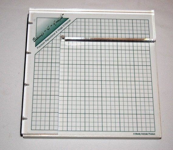 Stamp O Graph for Rubber Stamp Positioning and Enhancing, for Scrapbooking, Greeting Cards and More