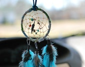 """Small Dream Catcher for your review mirror...infused with """"stress relief blend"""" essential oils."""