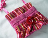 Small Bag with pockets - Striped Corduroy -  use for tooth fairy, gift cards, jewelry, or other treasures