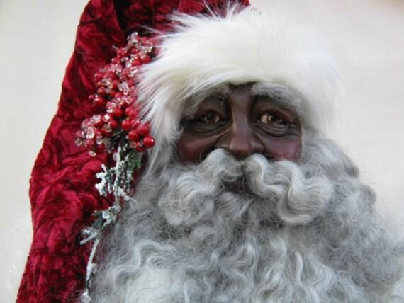 Traditional Black Santa