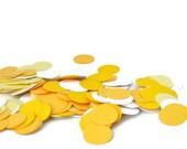 Shades of Yellow Confetti, Wedding Decoraion, Spring, Summer Party Decoration, Yellow Wedding, Spring Celebration