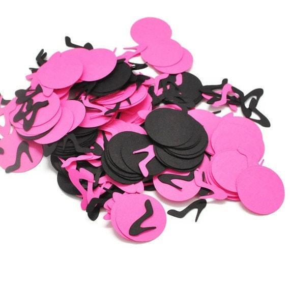 Diva Birthday Party Decor Bachelorette Party Confetti Shoe