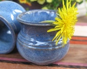 Little Mother Pot for Wee Flowers in Cobalt Blue Miniature Handmade Pottery