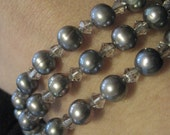 20% OFF SALE--Pearl and Crystal Bracelet