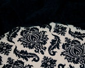 Minky Baby Blanket, Gender Neutral - Damask in Cavern with Black Minky for your Classy Baby - Personalization Available- Made To Order