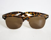 Vintage sunglasses - Leopard print - brown and dark golden