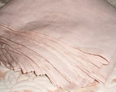 Linen fabric. Hand woven Natural Flax Linen Fabric in Beige. Perfect for linen pants