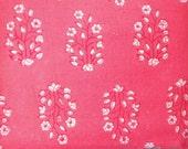 Hand block print fabric in Peachy Pink