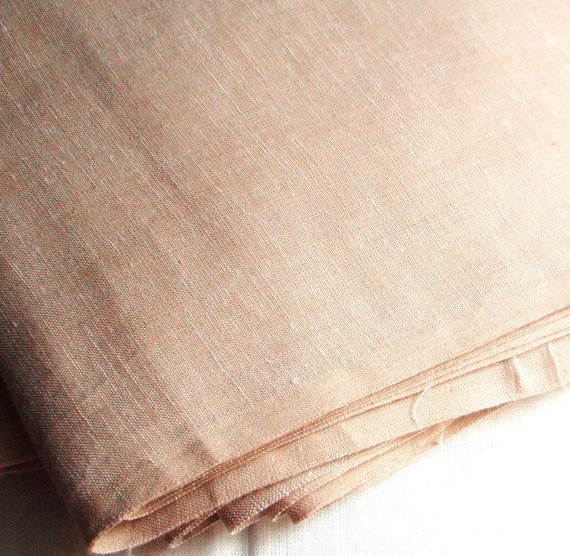 Dusty Beige Handwoven cotton fabric made on vintage looms. 44'' W. Price per Yard. More Available.