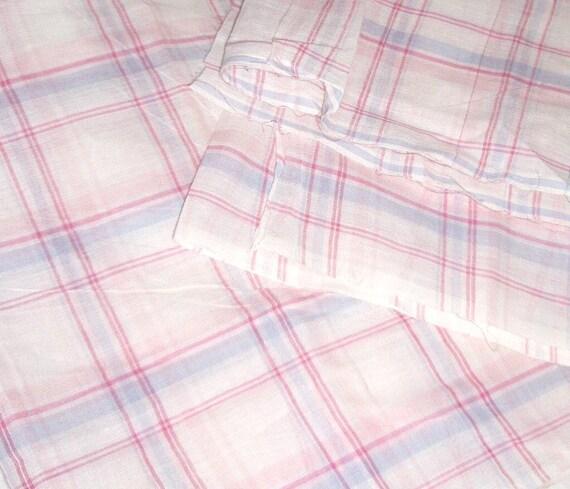 Back to school. Preppy Plaid. Madras Plaid cotton fabric. 44 inch wide. Vey soft.