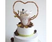 OOAK - Ready to Ship - Wedding Cake Topper Love Birds