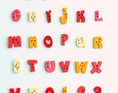 Alphabet Buttons - Vowels Only (Set of 30)