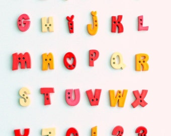 Alphabet Buttons (You Pick and Choose)