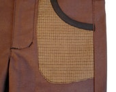 BOYS patch pocket pant in CHOCOLATE