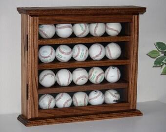 baseball display cabinet cabinet solid oak with door