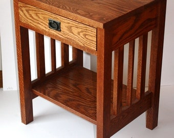 mission-crafstman end table or night stand